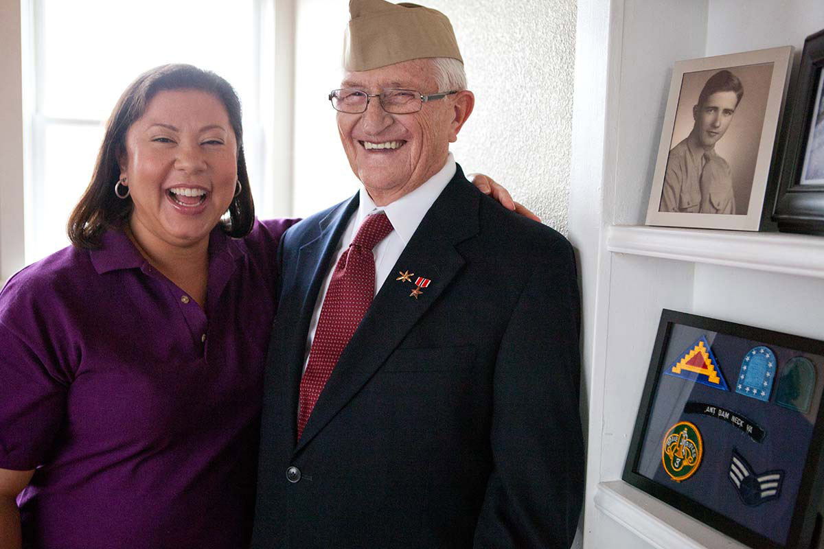 home instead caregiver and senior military veteran